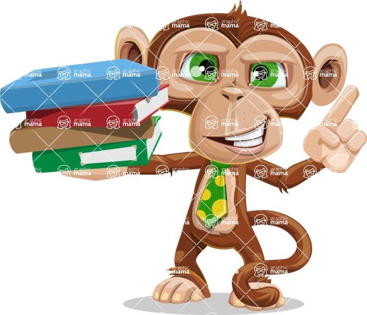 Ape Businessman Cartoon Vector Character AKA Bizzo - Book 2