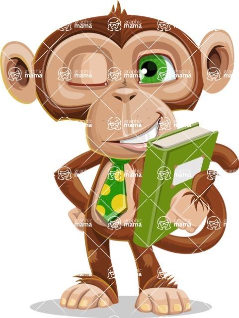Ape Businessman Cartoon Vector Character AKA Bizzo - Book 3