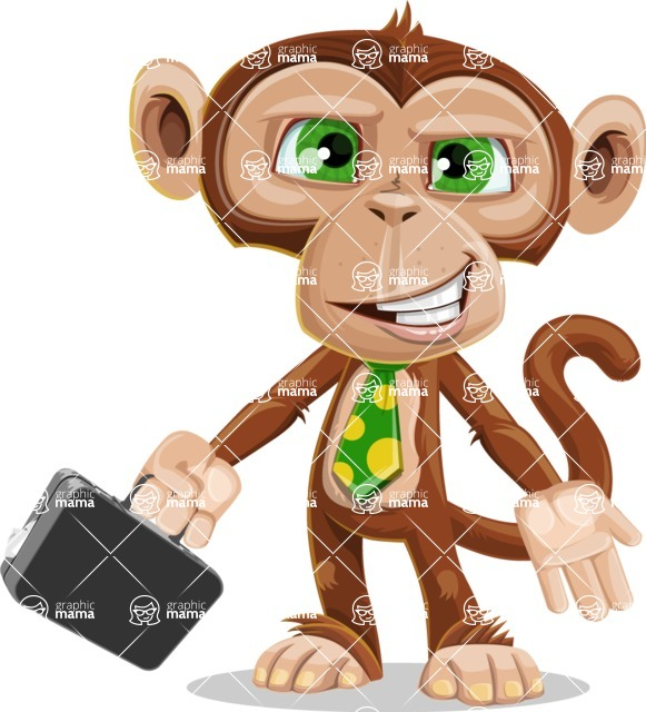 Bizzo the Business Monkey - Briefcase 1