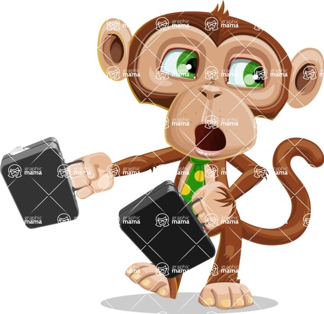 Bizzo the Business Monkey - Briefcase 3