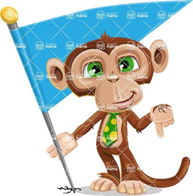 Ape Businessman Cartoon Vector Character AKA Bizzo - Checkpoint