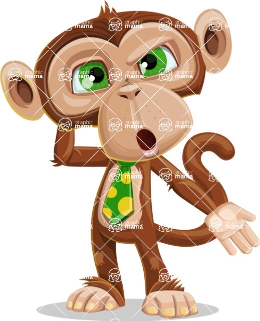 Bizzo the Business Monkey - Confused