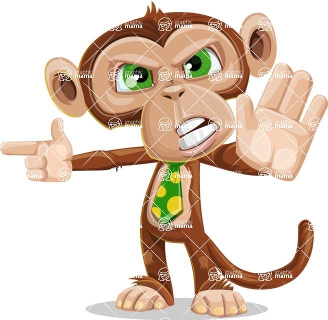 Ape Businessman Cartoon Vector Character AKA Bizzo - Direct Attention