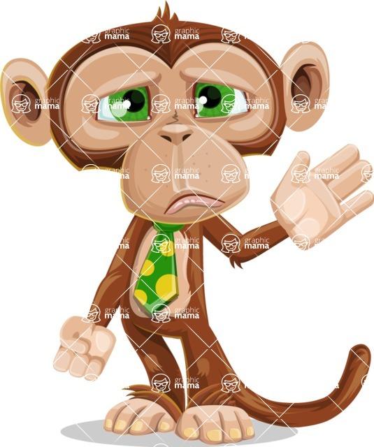 Ape Businessman Cartoon Vector Character AKA Bizzo - Goodbye