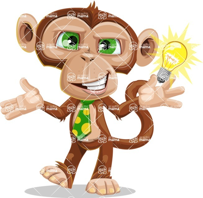 Ape Businessman Cartoon Vector Character AKA Bizzo - Idea 1
