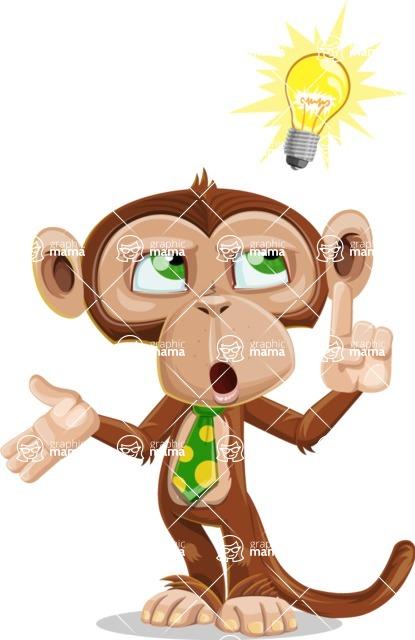 Ape Businessman Cartoon Vector Character AKA Bizzo - Idea 2