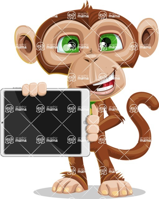 Ape Businessman Cartoon Vector Character AKA Bizzo - iPad 2