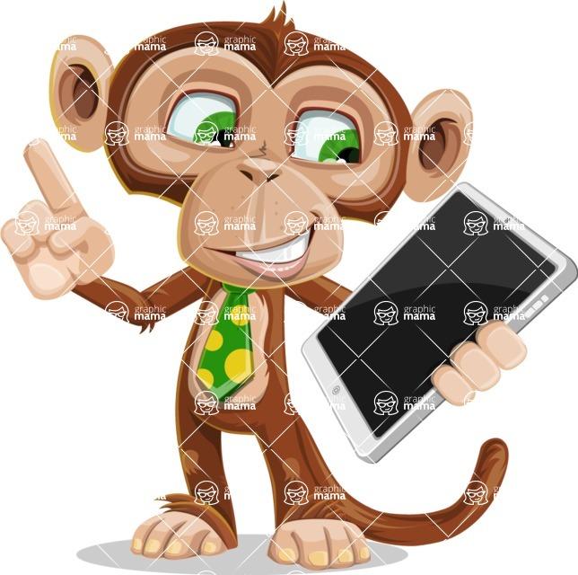 Ape Businessman Cartoon Vector Character AKA Bizzo - iPad 3