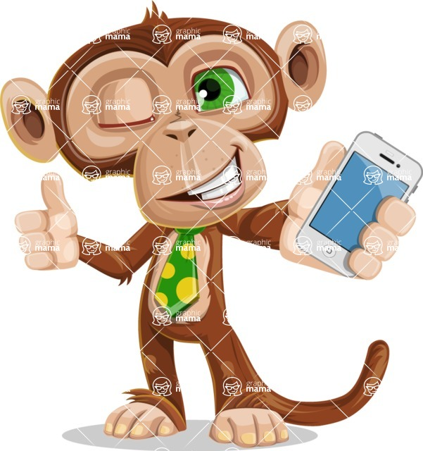 Ape Businessman Cartoon Vector Character AKA Bizzo - iPhone