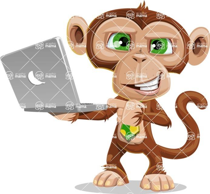 Bizzo the Business Monkey - Laptop 1