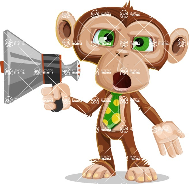 Bizzo the Business Monkey - Loudspeaker