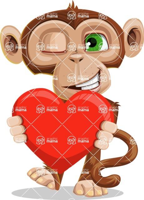 Ape Businessman Cartoon Vector Character AKA Bizzo - Love