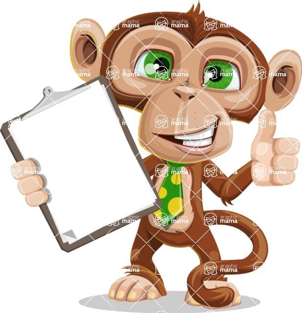 Ape Businessman Cartoon Vector Character AKA Bizzo - Notepad 1