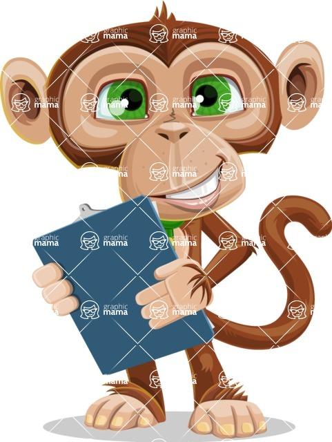 Ape Businessman Cartoon Vector Character AKA Bizzo - Notepad 2