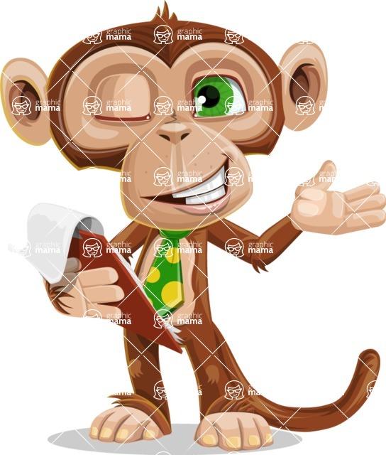 Ape Businessman Cartoon Vector Character AKA Bizzo - Notepad 3