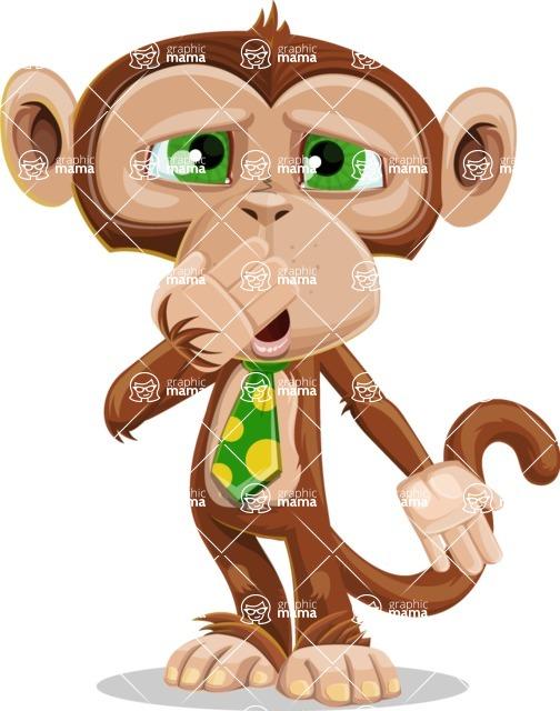 Ape Businessman Cartoon Vector Character AKA Bizzo - Oops