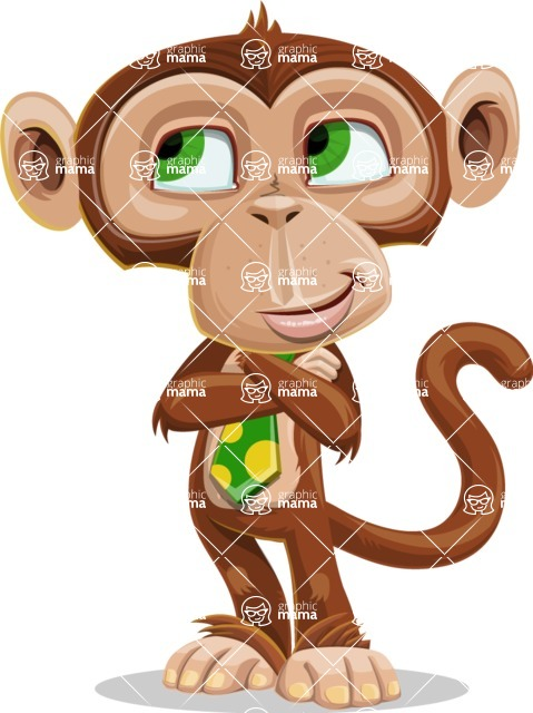 Ape Businessman Cartoon Vector Character AKA Bizzo - Patient
