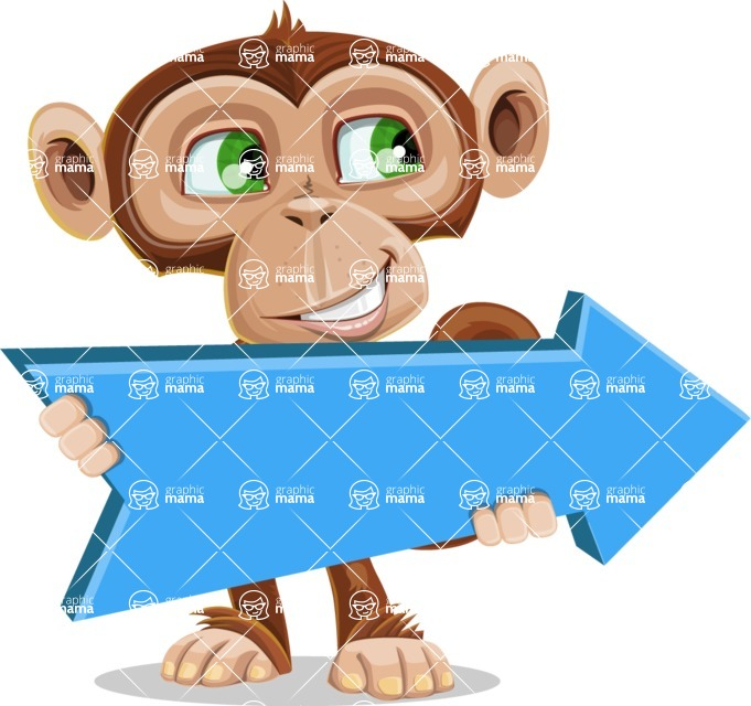 Ape Businessman Cartoon Vector Character AKA Bizzo - Pointer 2