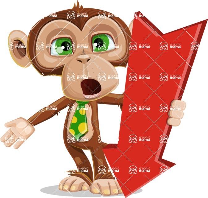 Ape Businessman Cartoon Vector Character AKA Bizzo - Pointer 3