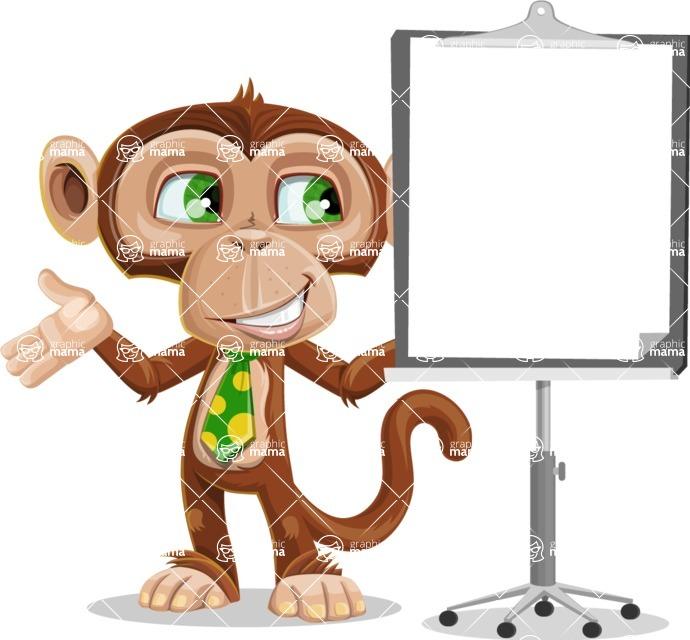 Ape Businessman Cartoon Vector Character AKA Bizzo - Presentation 1