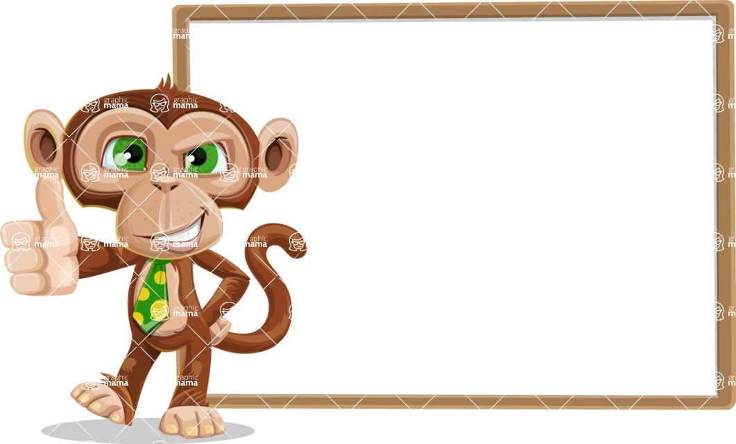 Ape Businessman Cartoon Vector Character AKA Bizzo - Presentation 5