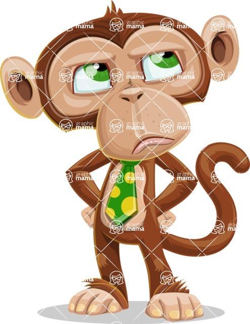 Ape Businessman Cartoon Vector Character AKA Bizzo - Roll Eyes