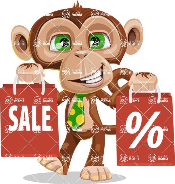 Ape Businessman Cartoon Vector Character AKA Bizzo - Sale 2