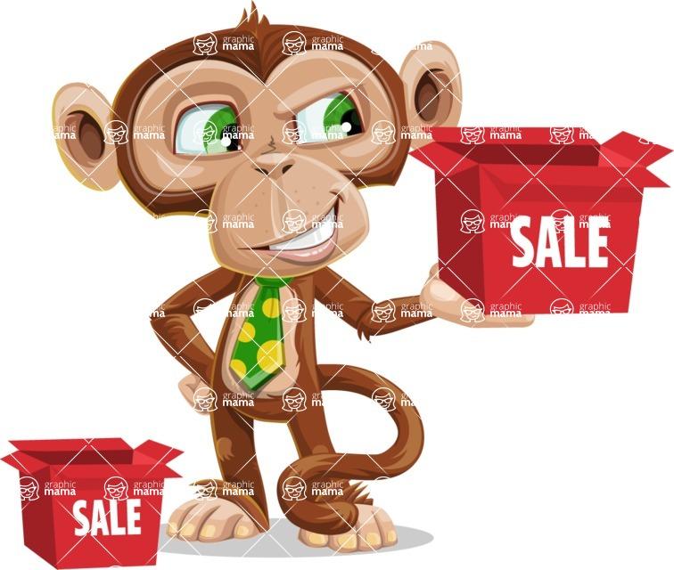 Ape Businessman Cartoon Vector Character AKA Bizzo - Sale