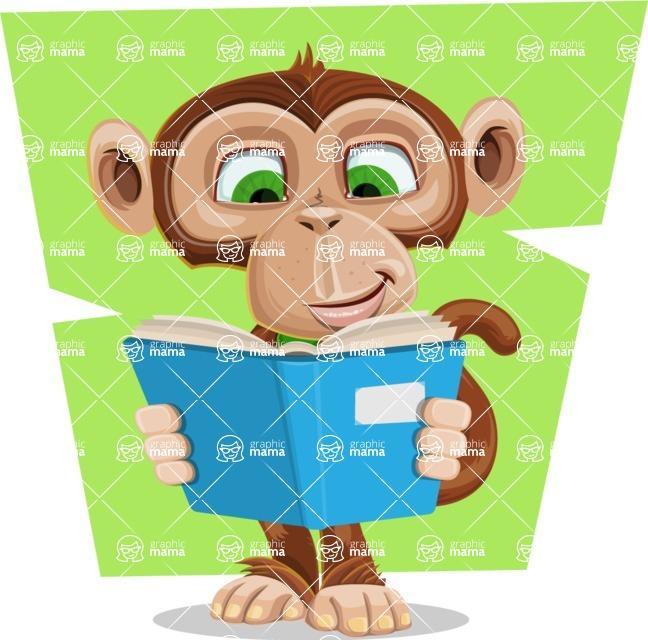 Ape Businessman Cartoon Vector Character AKA Bizzo - Shape 10