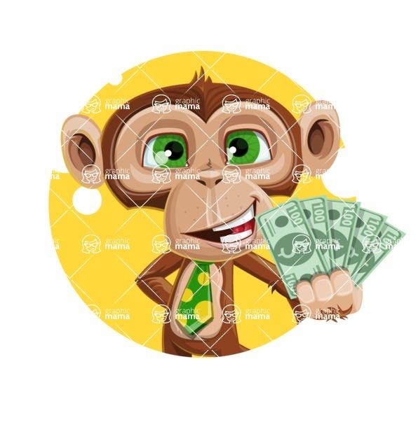 Ape Businessman Cartoon Vector Character AKA Bizzo - Shape 2