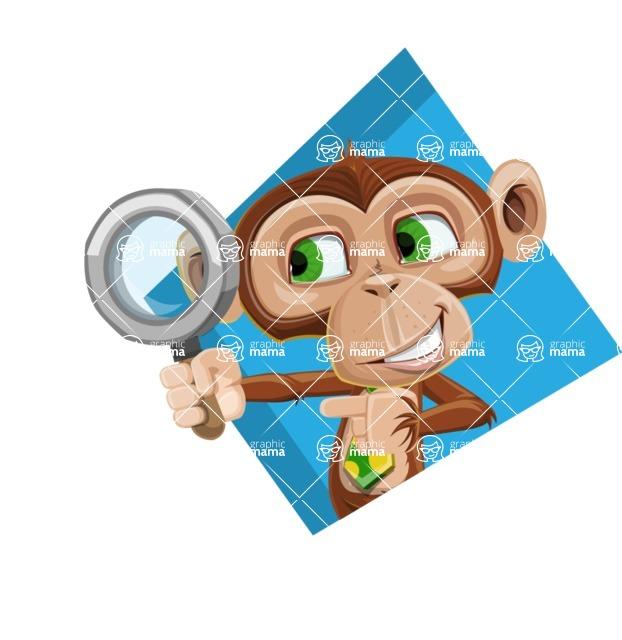 Ape Businessman Cartoon Vector Character AKA Bizzo - Shape 3