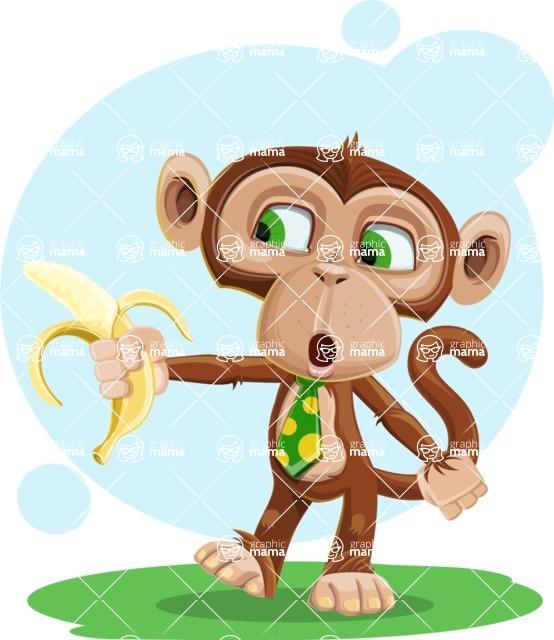 Ape Businessman Cartoon Vector Character AKA Bizzo - Shape 6