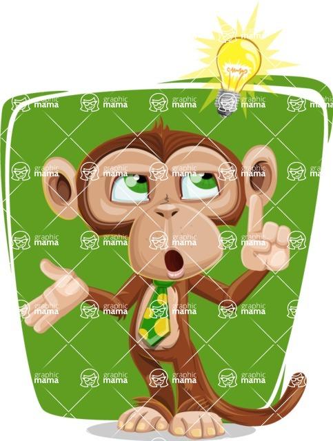 Ape Businessman Cartoon Vector Character AKA Bizzo - Shape 8