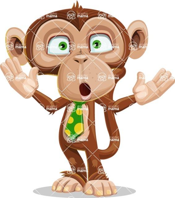 Ape Businessman Cartoon Vector Character AKA Bizzo - Shocked