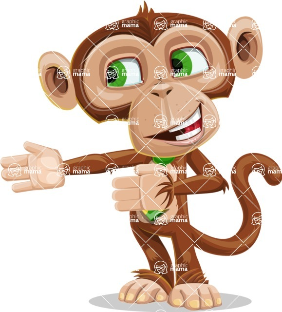 Ape Businessman Cartoon Vector Character AKA Bizzo - Show 2