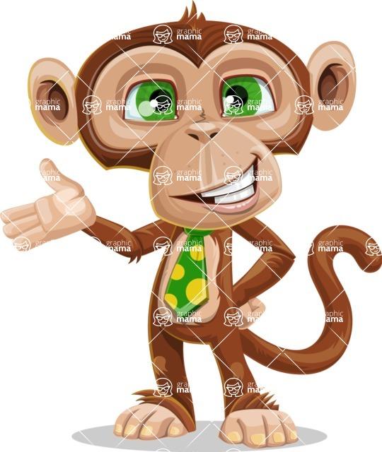 Ape Businessman Cartoon Vector Character AKA Bizzo - Showcase 2