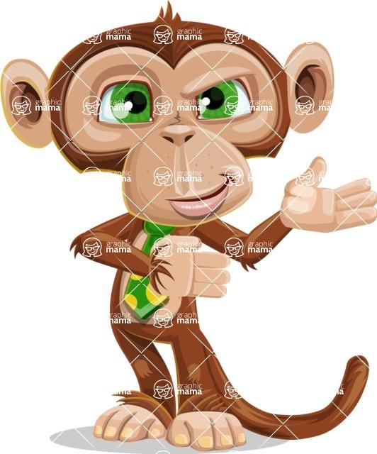 Ape Businessman Cartoon Vector Character AKA Bizzo - Showcase