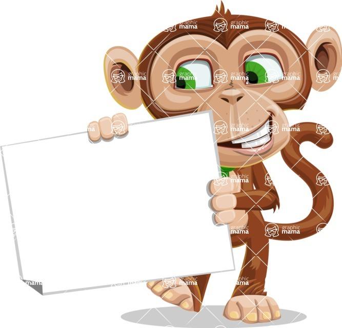 Ape Businessman Cartoon Vector Character AKA Bizzo - Sign 4