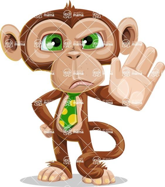 Ape Businessman Cartoon Vector Character AKA Bizzo - Stop 2