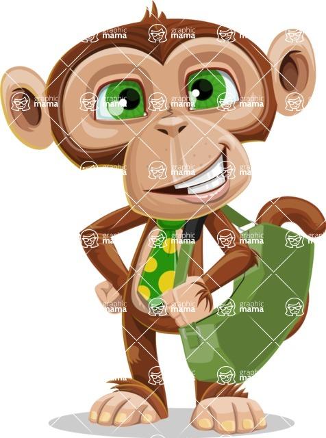 Ape Businessman Cartoon Vector Character AKA Bizzo - Travel 2