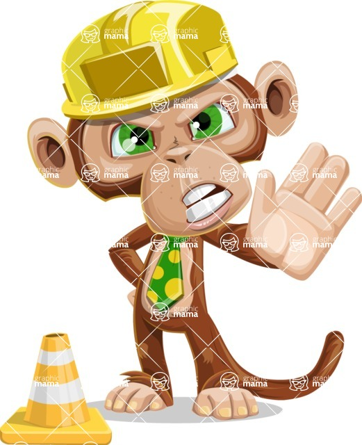 Bizzo the Business Monkey - Under Construction 1