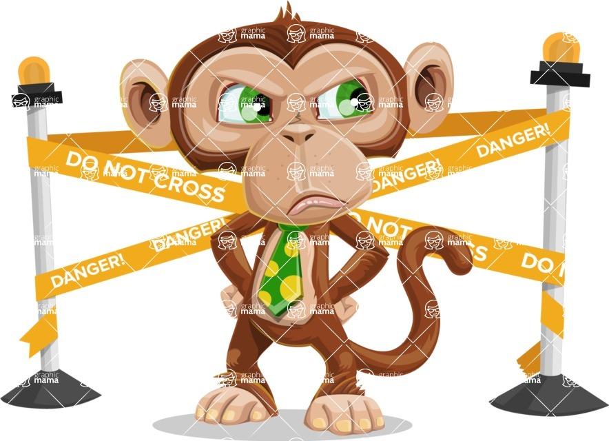 Ape Businessman Cartoon Vector Character AKA Bizzo - Under Construction 2