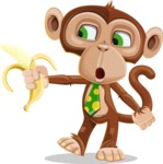 Ape Businessman Cartoon Vector Character AKA Bizzo - Banana