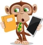 Ape Businessman Cartoon Vector Character AKA Bizzo - Book and iPad