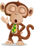 Ape Businessman Cartoon Vector Character AKA Bizzo - Bored 2