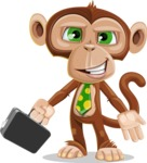 Ape Businessman Cartoon Vector Character AKA Bizzo - Briefcase 1
