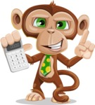 Ape Businessman Cartoon Vector Character AKA Bizzo - Calculator