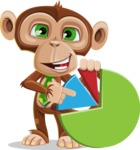 Ape Businessman Cartoon Vector Character AKA Bizzo - Chart