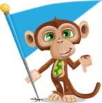 Ape Businessman Cartoon Vector Character AKA Bizzo - Checkpoint
