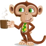 Ape Businessman Cartoon Vector Character AKA Bizzo - Coffee